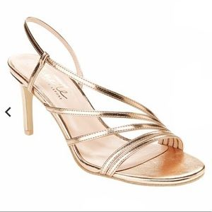 "Nanette Lepore ""Bria"" Rose Gold Dress Sandals"